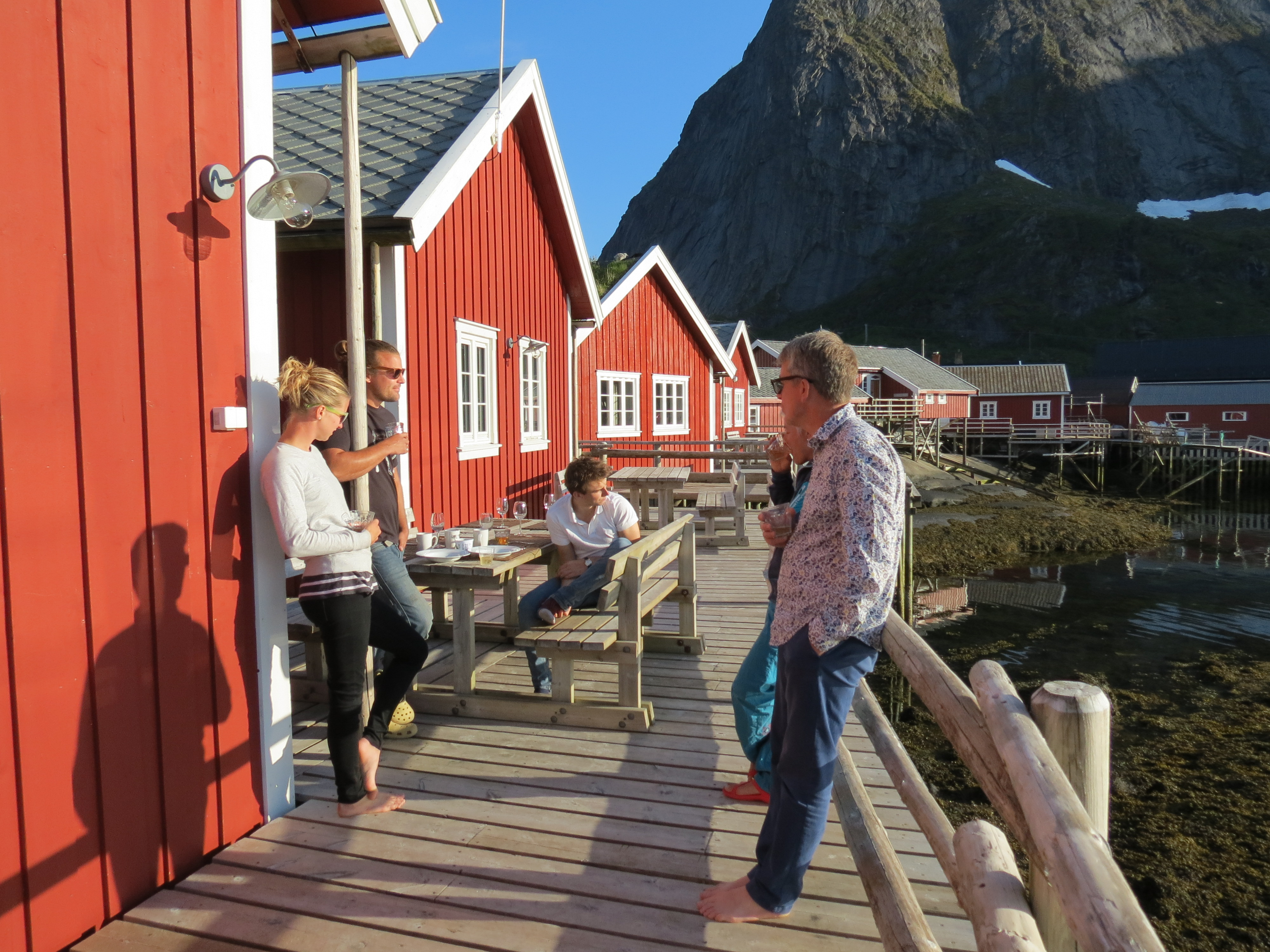 Reine, Lofoten – family reunited in a fisherman's hut
