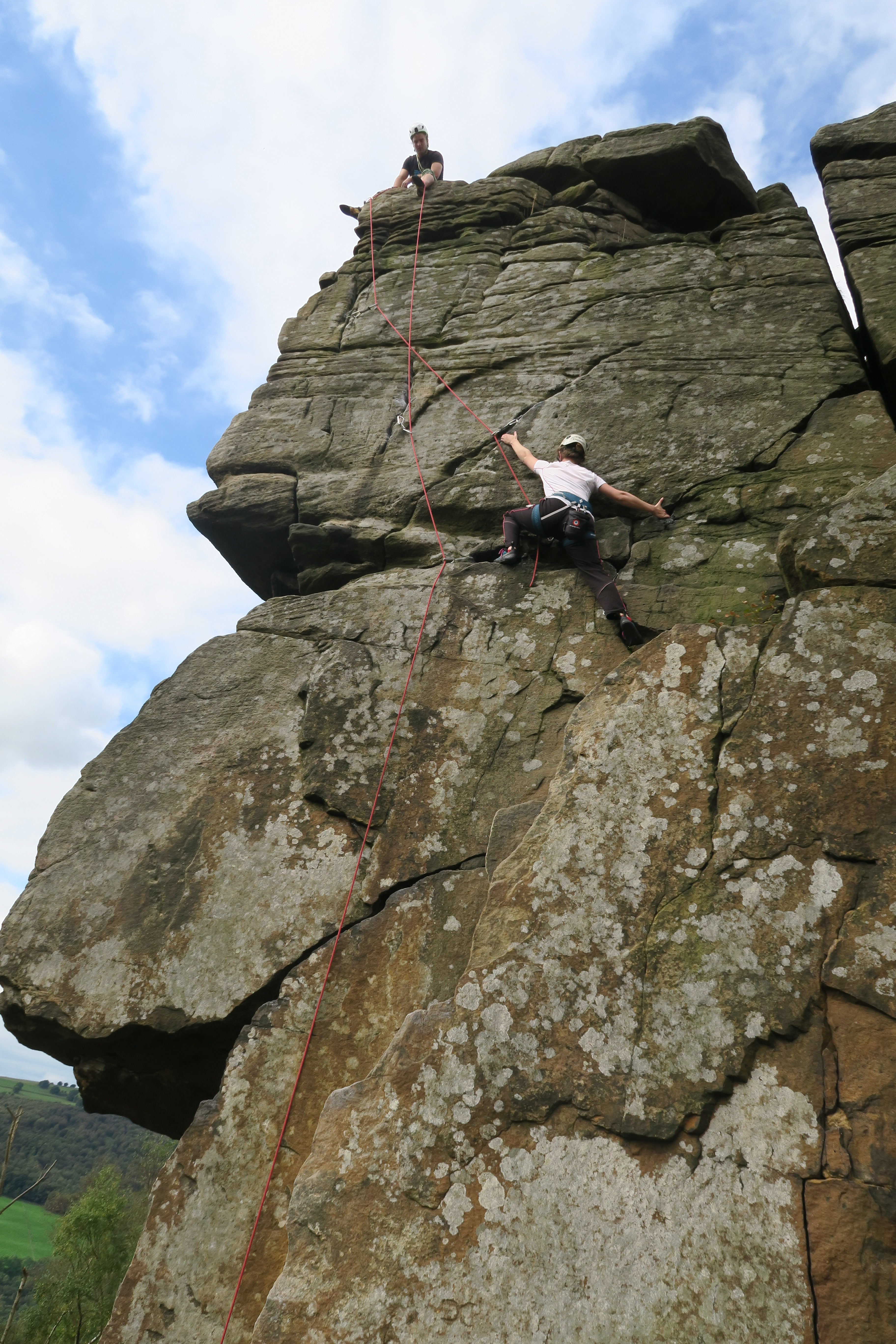 Peak District – gritstone with our honorary van companion